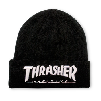 Embroidered Logo Beanie Black/White
