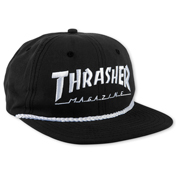 Thrasher Rope Snapback Black / White