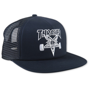 Embroidered Thrasher Skategoat Mesh Cap (Navy)