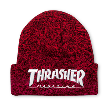 Embroidered Logo Beanie Red/White