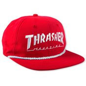 Thrasher Rope Snapback Red / White