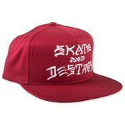 Skate and Destroy Snapback (Blood Red)