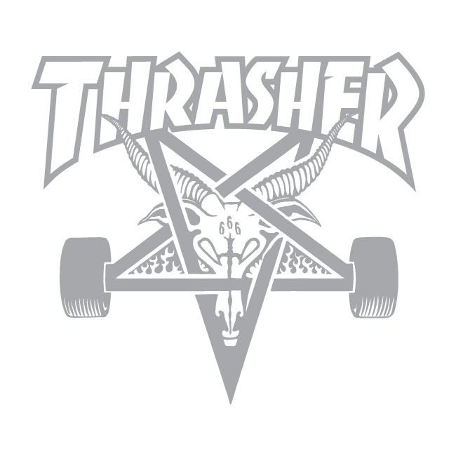 Thrasher Mag Logo Printed Mesh Cap  (Black on White)
