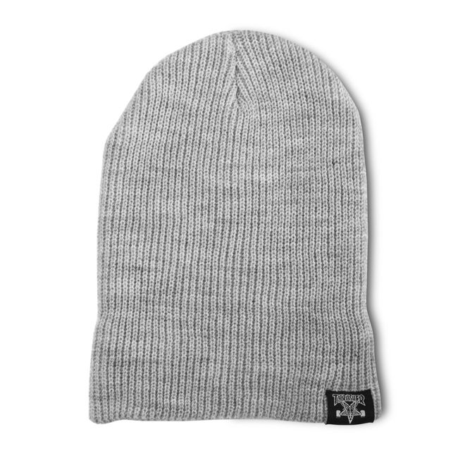 4b93443145d Thrasher Magazine Shop - Skategoat   Skate And Destroy Beanie (Gray ...