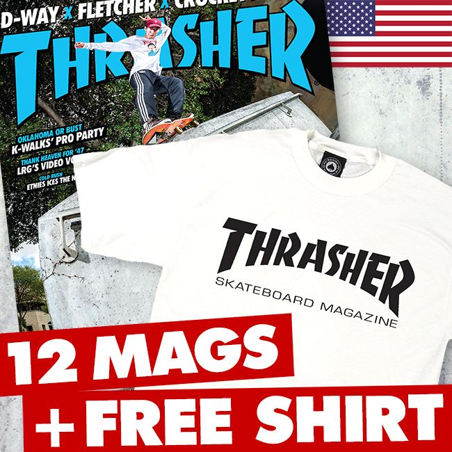 74f994295a02 Thrasher Magazine Shop - 1 Year US Subscription + FREE T-Shirt