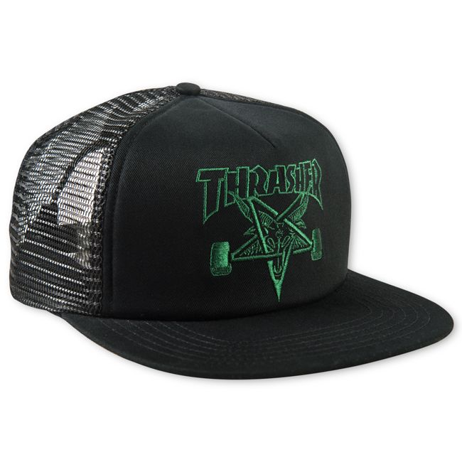 03a1be04b5d Thrasher Magazine Shop - Black Thrasher Skategoat Mesh Cap