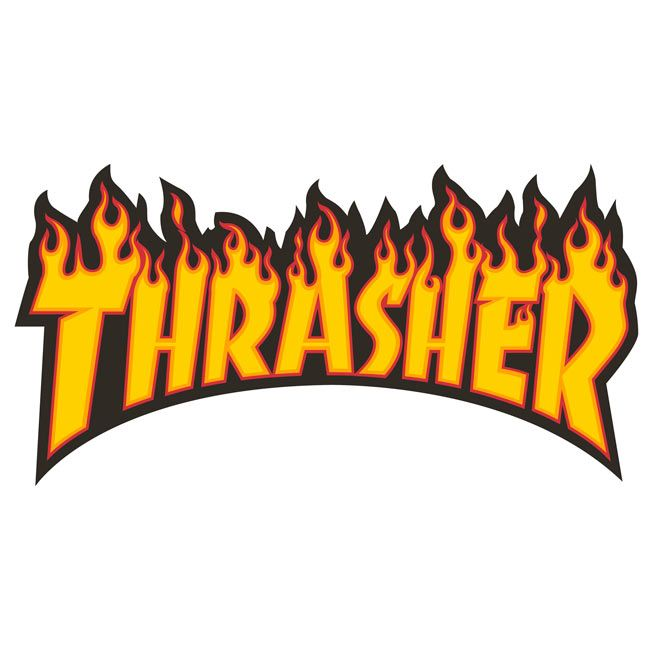 7a94bdcd2328 Thrasher Magazine Shop - Flame (Large) sticker