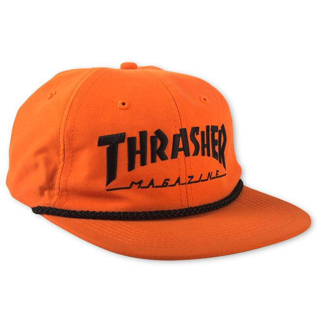 Thrasher Magazine Shop - Orange Thrasher Rope Snapback Hat 5bd421b9abd