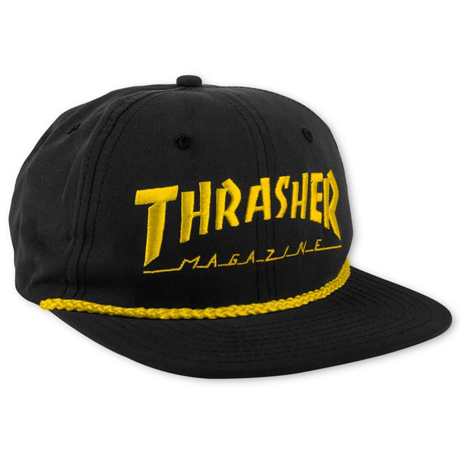 Thrasher Magazine Shop - Black Thrasher Rope Snapback Hat 6ffff771316