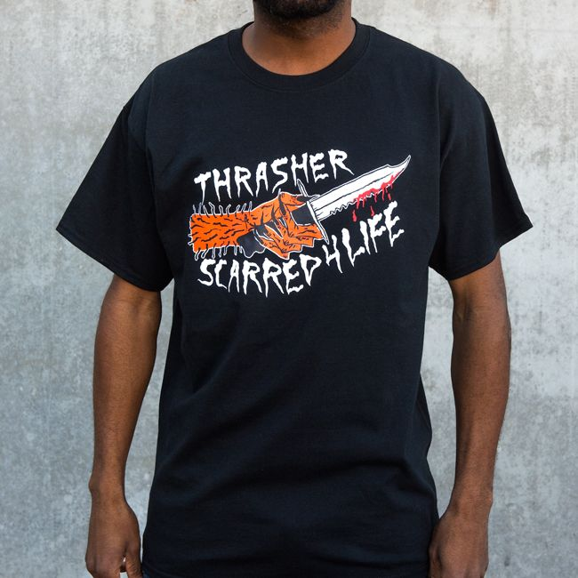 bf5b77fa8a1 Thrasher Magazine Shop - Scarred T-Shirt