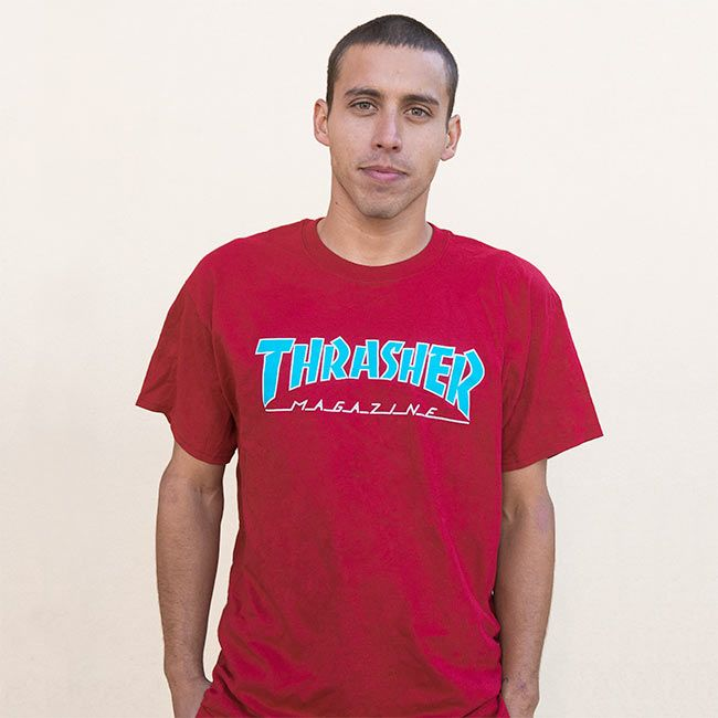 c3d3680fb0ae Thrasher Magazine Shop - Outlined T-Shirt Cardinal Red