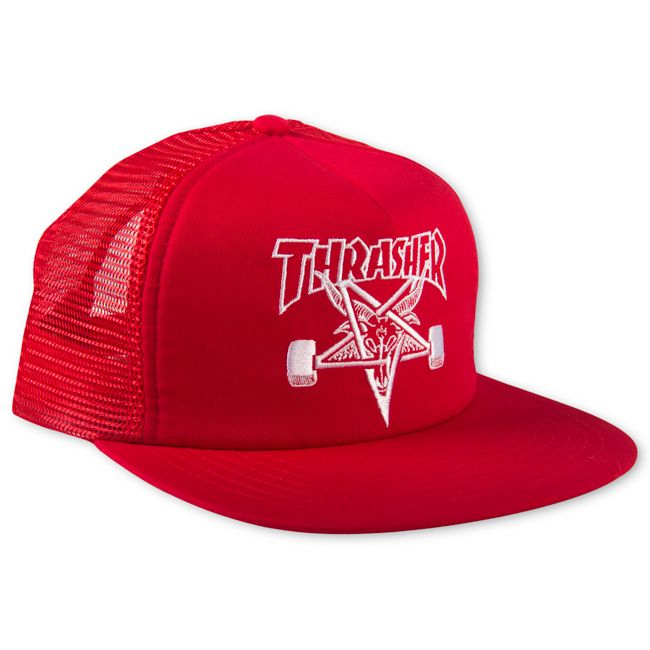 17b05ff444a Thrasher Magazine Shop - Red Thrasher Skategoat Mesh Cap