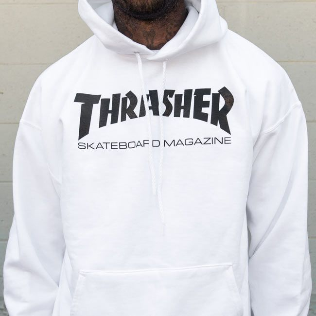 ae0cb8c73a6c Thrasher Magazine Shop - White Thrasher Skate Mag Hooded Sweatshirt