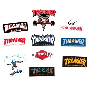 Thrasher Stickers 10 Pack (Collage)