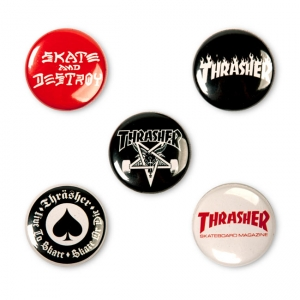Logo Buttons (5 Pack)