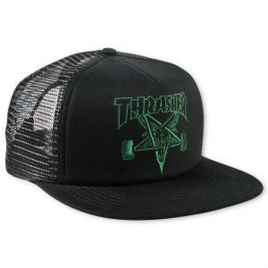 fbc97b0ebec Embroidered Thrasher Skategoat Mesh Cap (Black)