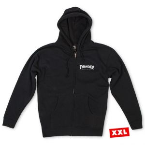 39ebe704f4db31 Thrasher Magazine Logo Zip Hood (Black)