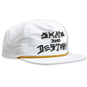 51160d2e741 Skate And Destroy Puff Ink Snapback (White)