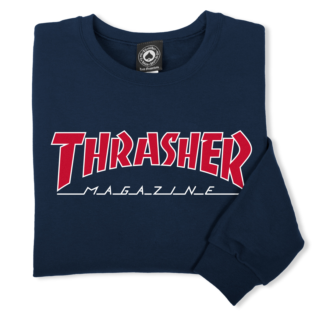 Outlined Crewneck (Navy)